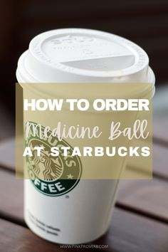 This is my healthy verison of the Starbucks Medicine Ball to make at home Healthy Starbucks, Starbucks Secret Menu, Medicine Ball At Starbucks, Tea Recipes, Healthy Recipes, Ginger Peach, Turmeric Tea, Mint Tea, Balls Recipe