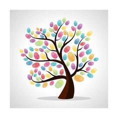 Art Print: Finger Prints Diversity Tree by cienpies : 12x12in Thumb Painting, Finger Painting For Kids, Finger Paint Art, Toddler Crafts, Crafts For Kids, Thumb Prints, Handprint Art, Tree Art, Art For Kids