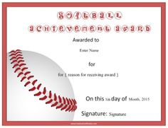 softball award