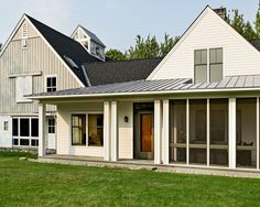 Traditional Farmhouse Design, Pictures, Remodel, Decor and Ideas - page 2    So simple, yet has farm hints and a screen porch with (gasp) a hottub!
