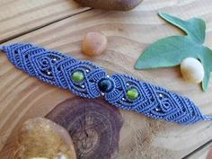 Dendrite macrame bracelet macrame jewelry micro por SelinofosArt