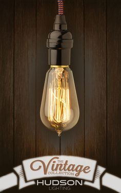 Hudson Lighting's Vintage Collection!  Adding Edison Light bulbs to a new or existing light fixture is an affordable way to bring character into a room!  Grab a pack today!