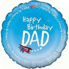 Balloons Happy Birthday Dad Foil Balloon 995