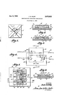 Patent US3072832 - Semiconductor structure fabrication - Jan 8, 1963