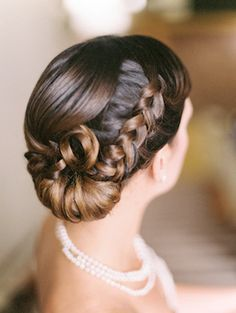 Braided updo | Lisa O'Dwyer and Prema | see more on: http://burnettsboards.com/2015/04/sargents-bride/