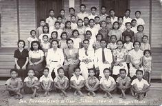 Grade San Fernando Elementary School, Camarines Sur, 1941 Sourced from the Veluz Family. San Fernando, Class Pictures, Pinoy, Filipino, Elementary Schools, Over The Years, Painting, Art, Art Background