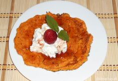 Fotorecept:Mrkvové placky. Cottage Cheese, Risotto, French Toast, Breakfast, Ethnic Recipes, Food, Morning Coffee, Essen, Meals