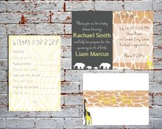 It Will Be Wild Baby Shower Set Invite, Wishes for Baby and Thank You Card