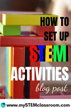 How to set up STEM activities Science Resources, Science Lessons, Teaching Science, Science Experiments, Teaching Ideas, Kindergarten Stem, Challenges To Do, Technology Lessons, Steam Activities
