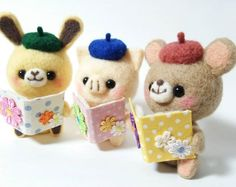 Cute Needle felting wool animals cute(Via @hananeko_youmou)