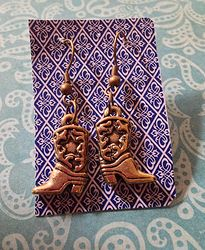 Gold Tone Cowboy Boot Earrings $5.00