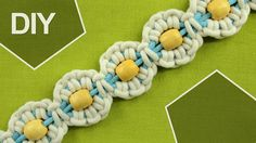Macrame Flower motif with Pearl in center / Tutorial