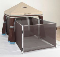 Fancy dog pen! Eddie wants one! :)
