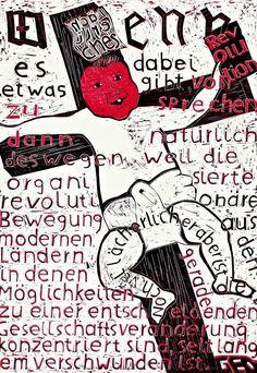 """Lot 1413 - Albert Oehlen (Krefeld 1954 – lives in Switzerland)  """"ALLES ANDERE"""". 1987  Printed cardboard"""
