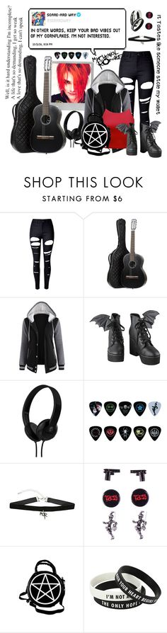 """""""Gerard Way, My Way"""" by ghostlover1235 ❤ liked on Polyvore featuring Polaroid, WithChic, Chanel, Iron Fist, Skullcandy and Kill Star"""