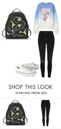 """""""Без названия #1725"""" by martusha200 ❤ liked on Polyvore featuring Love Moschino, River Island and Converse"""