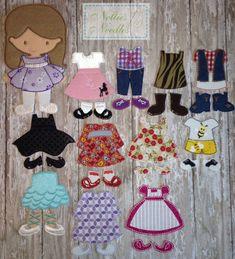 Felt Girl Doll It's All In The Details by NettiesNeedlesToo, $100.00
