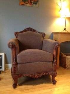 Ordinaire This Chair Was Reupholstered To Look The Way It Did When My Grandmother  Owned It. Overstuffed ChairsMy ...