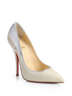 Christian Louboutin - Tucsy Two-Tone Leather Pumps