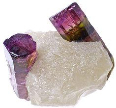Turmalina em quartzo - Madagascar