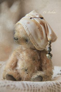 Artist teddy bear OOAK vintage mohair handmade Little Gramm Vintage Teddy Bears, My Teddy Bear, Cute Teddy Bears, Teddy Beer, Cute Bear, Boyds Bears, Bear Doll, Bear Art, Art Dolls