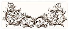vintage ephemera decorative engraving