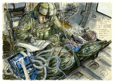 An American Artist in the Combat Zone: Illustrations from Afghanistan: Newsmakers: GQ