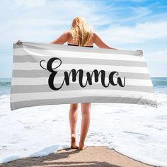 """Widespread Panic Cheers to Your Friends So Near"" Towel Beach Bath, Beach Towel, Beach Bridal Showers, Beach Bachelorette, Couple Beach, Mixed Girls, White Towels, Striped Towels, Plus 4"