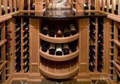 Custom #wine cellar displays. More beautiful #winerooms at Rosehill Wine Cellars.