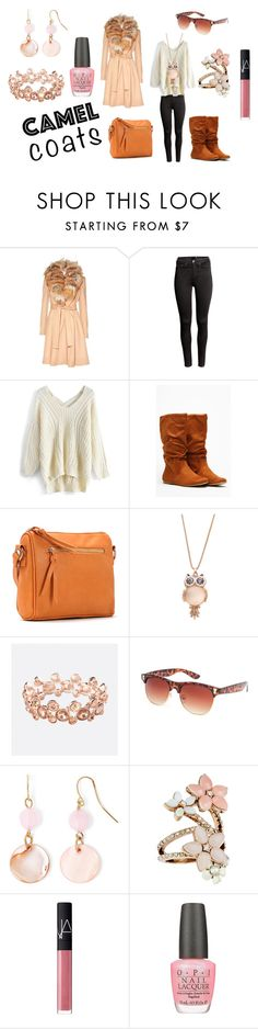 """Wear a Camel Coat!"" by holly32196 on Polyvore featuring Alice + Olivia, H&M, Chicwish, Thirty X ThirtyNine, Avenue, Full Tilt, Mixit, Accessorize, NARS Cosmetics and OPI"