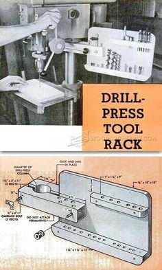 Drill Press Tool Rack - Drill Press Tips, Jigs and Fixtures | WoodArchivist.com