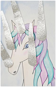 Pin the horn on the unicorn party game                                                                                                                                                                                 More