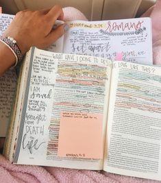 Only on chapter 6 & it's soo good. Bible Notes, My Bible, Bible Art, Bible Verses Quotes, Bible Scriptures, Tittle Ideas, Cute Bibles, Bibel Journal, Bible Doodling