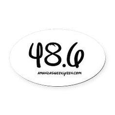 Dopey Challenge Oval Car Magnet 48.6 #rundisney #dopeychallenge