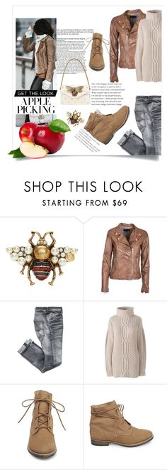 """Untitled #255"" by devrene ❤ liked on Polyvore featuring Gucci, Bully, Lands' End, Steve Madden and plus size clothing"