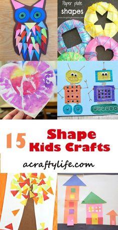 shape kids crafts - crafts for kids- kid crafts - math acraftylife.com #preschool
