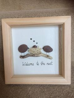 Pebble art New baby Welcome to the nest