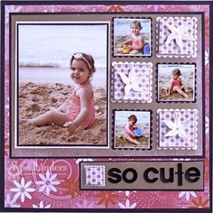 Great scrapbooking ideas using Mosaic Moments Grid patterns by Tami Potter and Wish in the Wind. Learn scrapbook page layout and design using the ultimate page layout system. Baby Girl Scrapbook, Baby Scrapbook Pages, Kids Scrapbook, Scrapbook Templates, Scrapbook Paper Crafts, Scrapbook Cards, Scrapbooking Ideas, Picture Scrapbook, Scrapbook Photos