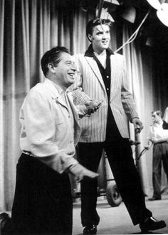 Elvis during rehearsals, Milton Berle Show