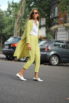 Soft Summer yellow (not the white shirt, it might be paired with a soft muted blue/grey or cool sage green, and blue Toms for shoes). Though I have yet to meet a SSu who actually likes yellow.