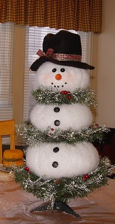 """This is a tutorial of a Christmas tree crafted into a tree by Paintlady 34. She is a true craft person, and shares her """"how to"""" with her fellow crafters!  Thank you Paintlady!  Your tree can be any size!   - View the full album on Photobucket."""