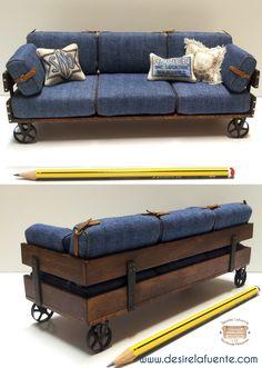 1:12 scale sofa.