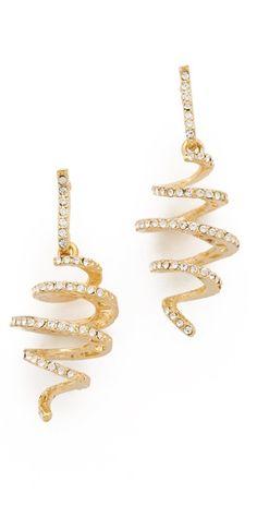Crystal Spiral Earrings