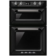 SMEG DOSF6920N VICTORIA BUILT IN ELECTRIC DOUBLE OVEN BLACK, ROCHDALE