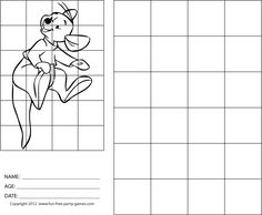 Drawing with Grids: Winnie the Pooh: Roo Bounces on Tail