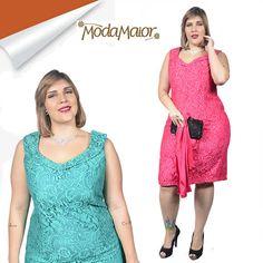824ec30790 Lindo vestido curto Plus Size todo em Renda super macia e confortável .  Chique e clássico. modamaior.com.br