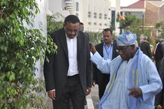 Prime Minister Hailemariam and Former President of Nigeria, Olesegun Obasanjo at the 2013 Tana Forum. Former President, Prime Minister, High Level, Ethiopia, Presidents, Africa, Afro