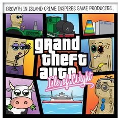 Coming soon, to a console near you... #isleofwight #iow #banter #illustration #cartoon #2dart #graphicdesign #caulkheads #islandlife #humour #gta #gta6 #ps4 #xbox #gaming #videogames