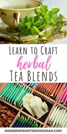 Healing Herbs, Medicinal Herbs, Making Herbal Tea, Cocina Diy, Homemade Tea, Tea Benefits, Smoothie, Tea Blends, How To Make Tea