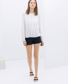 Image 1 of PIQUÉ SHORTS WITH EDGING from Zara